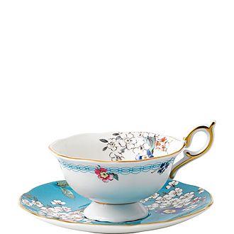Wonderlust Apple Blossom Teacup and Saucer