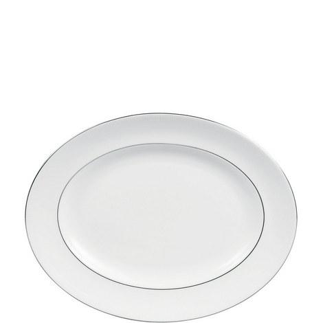Vera Wang Blanc sur Blanc Oval Dish 35cm, ${color}