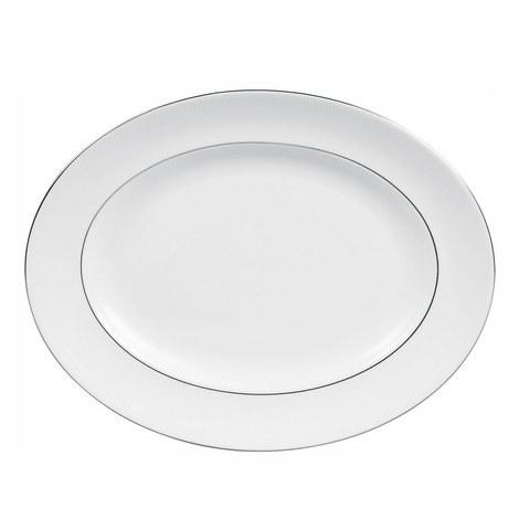 Blanc sur Blanc Oval Dish 38.5cm, ${color}