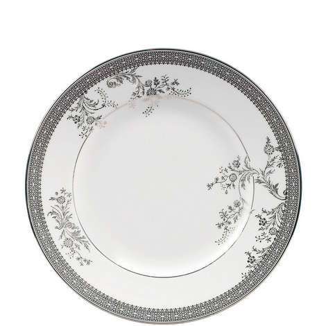 Vera Wang Lace Platinum Plate 20cm, ${color}