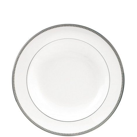Vera Wang Lace Platinum Soup Plate 23cm, ${color}