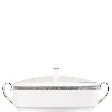Lace Platinum Covered Vegetable Dish, ${color}