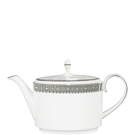 Vera Wang Lace Platinum Teapot 2pt, ${color}