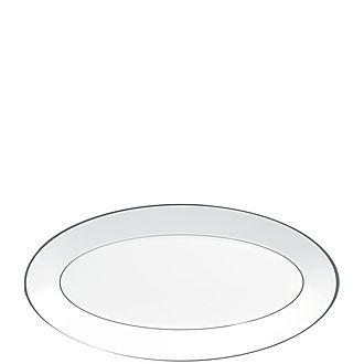 Jasper Conran Platinum Serving Platter 45cm