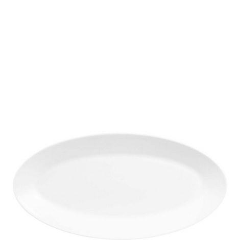 Jasper Conran White Oval Platter Medium, ${color}