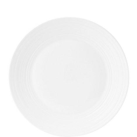 Jasper Conran White Strata Plate 27cm, ${color}