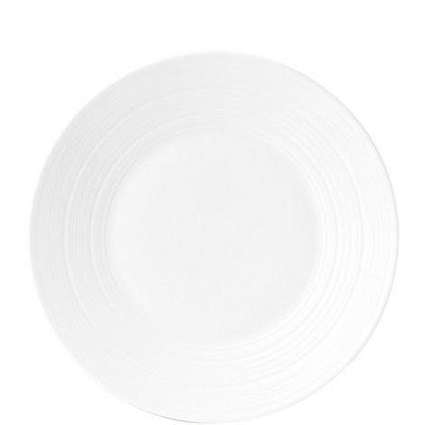 Jasper Conran White Strata Plate 23cm, ${color}