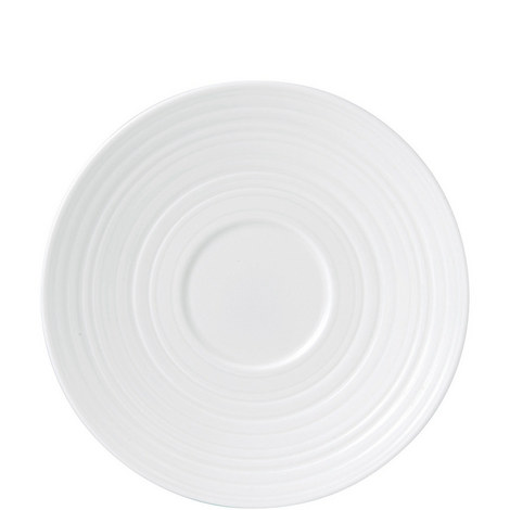 Jasper Conran White Strata Tea Saucer, ${color}