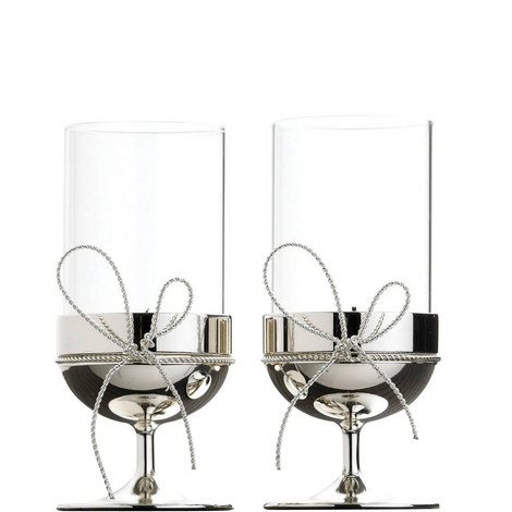 Vera Wang Love Knots Tea Light Holder Set of Two, ${color}