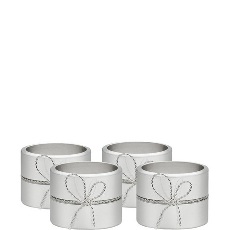 Vera Wang Love Knots Napkin Ring Set of Four, ${color}
