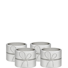 Vera Wang Love Knots Napkin Ring Set of Four