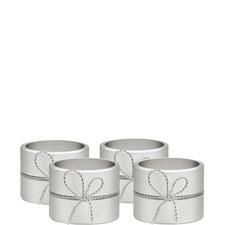 Vera Wang Love Knots Napkin Ring Set of Four
