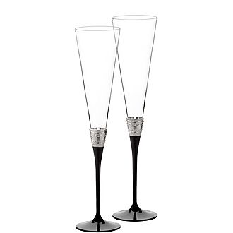 Vera Wang With Love Noir Toasting Flute Set of Two