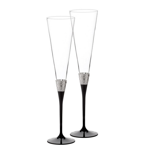 Vera Wang With Love Noir Toasting Flute Set of Two, ${color}