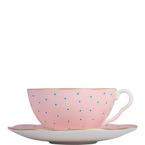 Polka Dot Tea Story Teacup and Saucer, ${color}