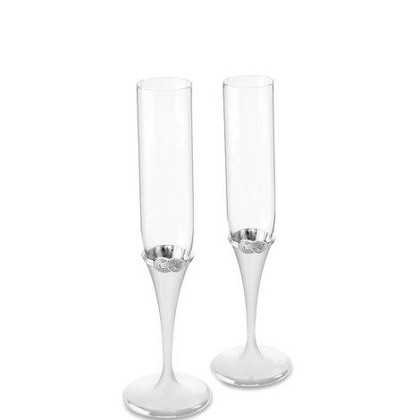 Vera Wang Infinity Toasting Flute Set of Two, ${color}