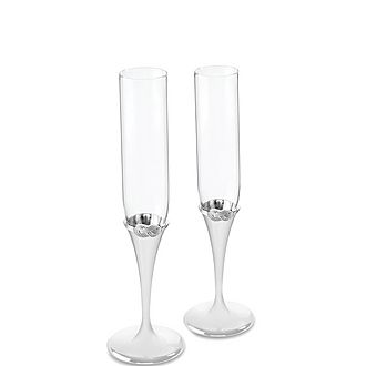 Vera Wang Infinity Toasting Flute Set of Two