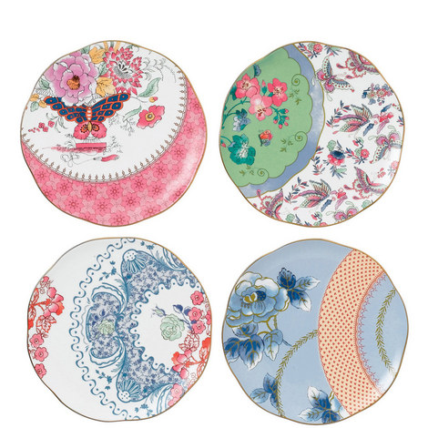 Butterfly Bloom Tea Plate, ${color}
