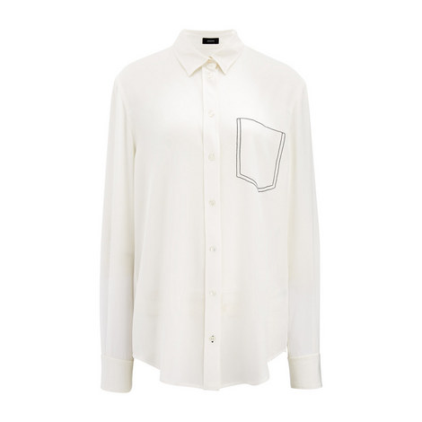 Crepe de Chine Garcon Shirt, ${color}
