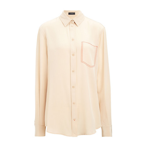 Crepe de Chine Garcon Shirt, ${color}