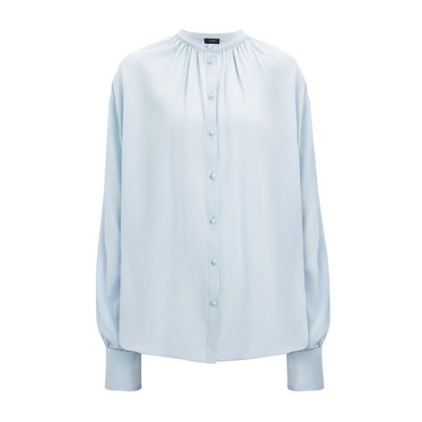 Crepe de Chine Everett Blouse, ${color}