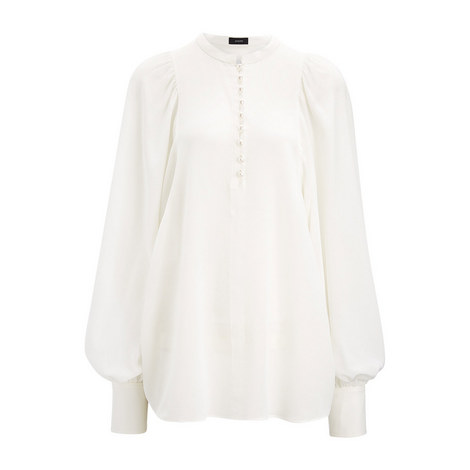 Crepe de Chine Aima Blouse, ${color}