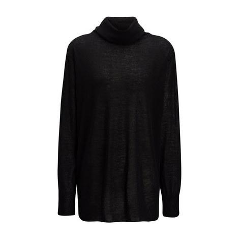 Cashair High Neck Oversize Sweater, ${color}