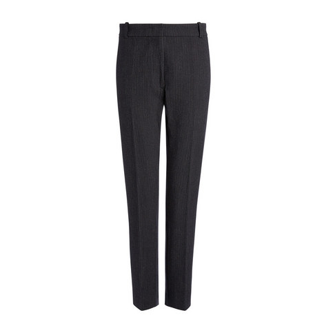 Gabardine Zoom Pinstripe Trousers, ${color}