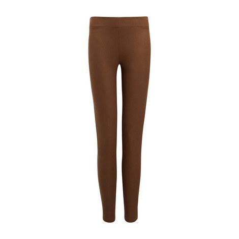 Gabardine Stretch Leggings, ${color}