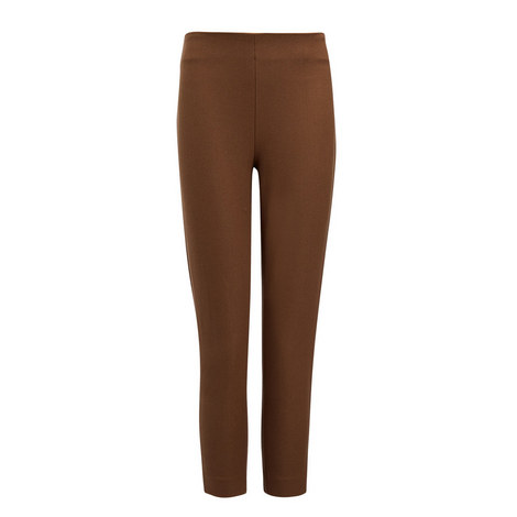Gabardine Tony Cropped Stretch Trousers, ${color}