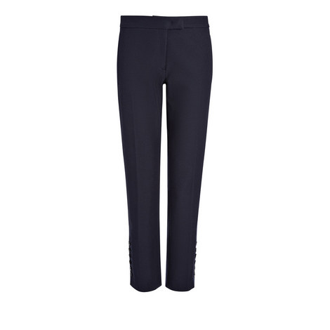 Finley Buttoned Gabardine Trousers, ${color}