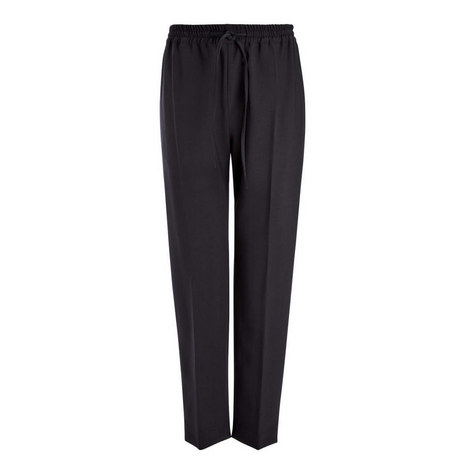 Louna Wool Drawstring Trousers, ${color}