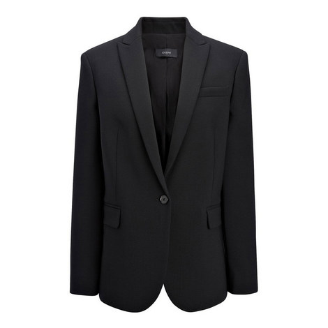 Savoy Wool Stretch Blazer, ${color}