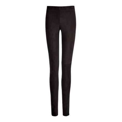 Suede Stretch Leggings, ${color}