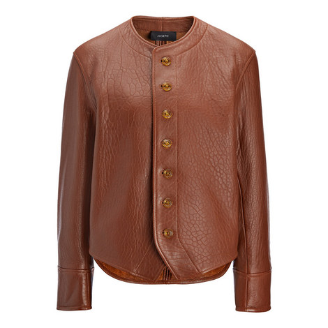 Orlan Bubble Leather Jacket, ${color}