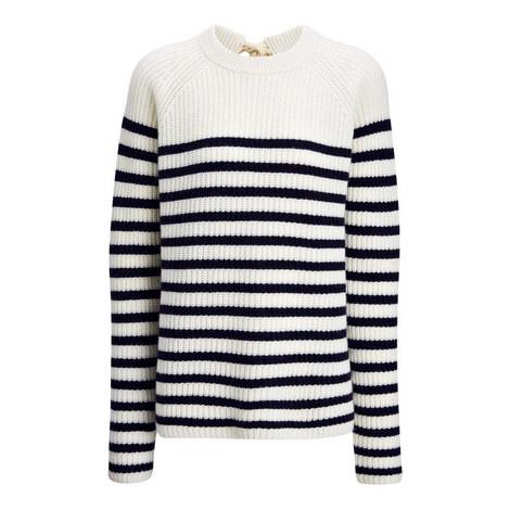 Sailor Stripe Cashmere Sweater, ${color}