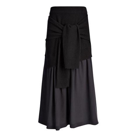 Crepe-de-Chine Skirt, ${color}