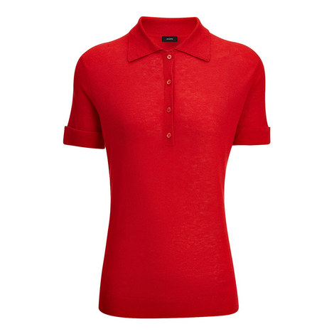 Silk Cashmere Polo Shirt, ${color}