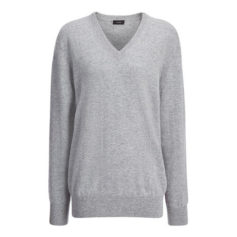Cashmere V-Neck Sweater, ${color}