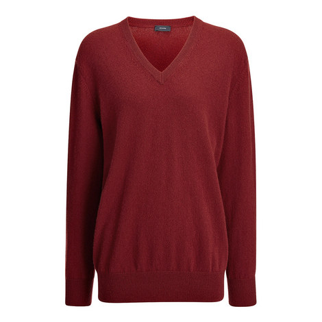 Cashmere V-Neck Sweater, ${color}