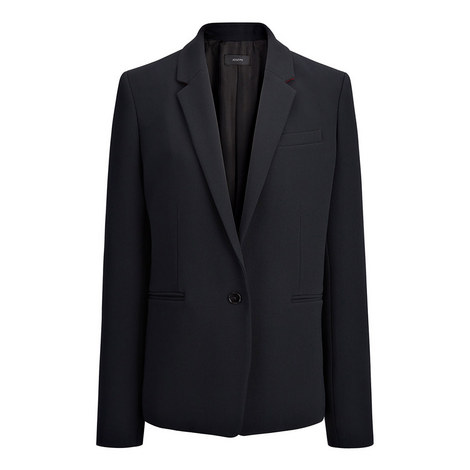 Stretch Single-Breasted Jacket, ${color}
