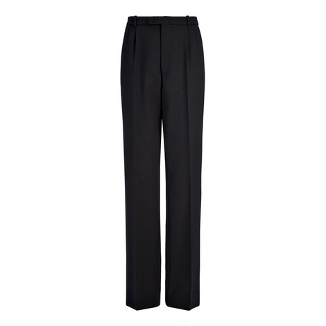 Wool Front Seam Trousers, ${color}