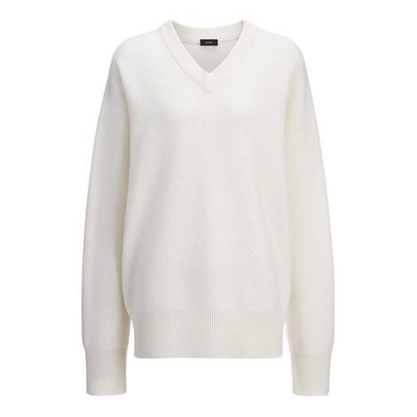 Wool V-Neck Sweater, ${color}