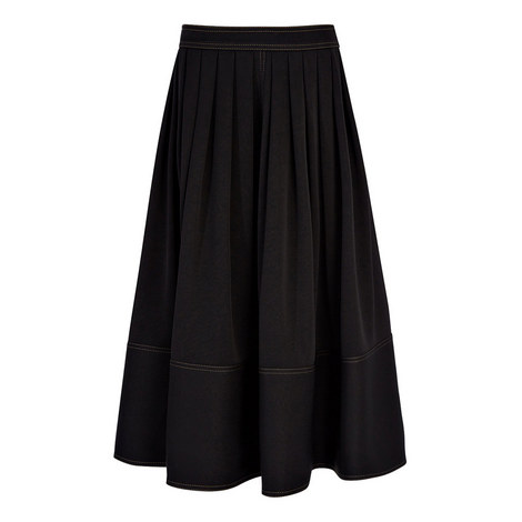Grace Satin-Stretch Skirt, ${color}