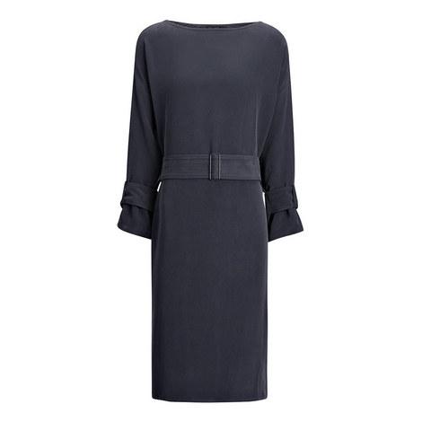 Ernst Matte Silk Dress, ${color}