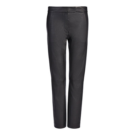 Finley Stretch Leather Trousers, ${color}