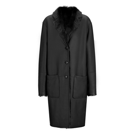 Reversible Truman Toscano Nappato Coat, ${color}