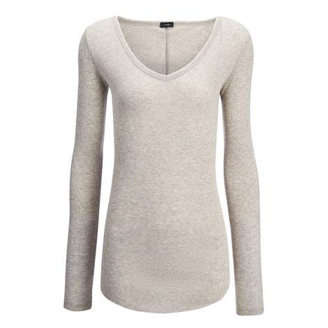 Cotton Cashmere Rib Top, ${color}