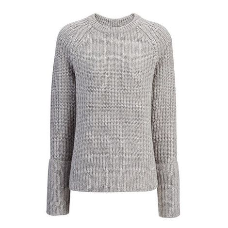Luxe Purl Cashmere Sweater, ${color}