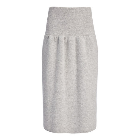 Compact Boiled Wool Skirt, ${color}